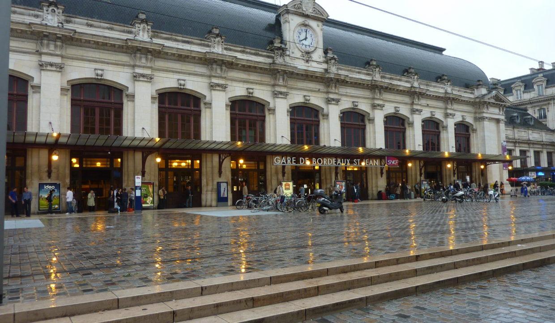 La gare St Jean à Bordeaux