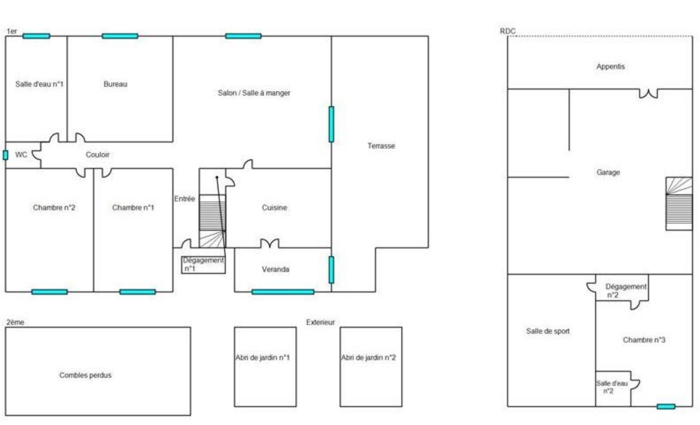 Plan de la maison et annexes
